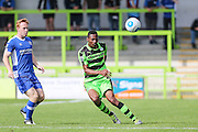 Forest Green Rovers Ethan Pinnock (16) clears the ball forward during the Vanarama National League match between Forest Green Rovers and Gateshead at the New Lawn, Forest Green, United Kingdom on 13 August 2016. Photo by Shane Healey.