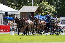 Donaueschingen - CHI mit Europameisterschaft Gespannfahren 2019<br /> Dressage Four-in-hand horses Driving European Championship<br /> Vierspänner Dressur<br /> 16. August 2019<br /> © www.sportfotos-lafrentz.de/