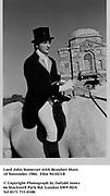 Lord John Somerset with Beaufort Hunt. 10 November 1984<br />941023/8<br /><br />© Copyright Photograph by Dafydd Jones<br />66 Stockwell Park Rd. London SW9 0DA<br />Tel 0171 733 0108.