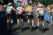 KWIATKOWSKI Michal of Etixx - Quick Step - MARTIN Daniel of Team Cannondale - Garmin - VERMOTE Julien of Etixx - Quick Step during the stage 6 of the 102nd edition of the Tour de France 2015 with start in Abbeville and finish in Le Havre, France (191 kms)