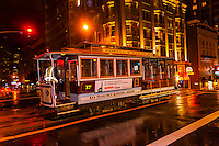 Powell Street cable car, San Francisco, California USA