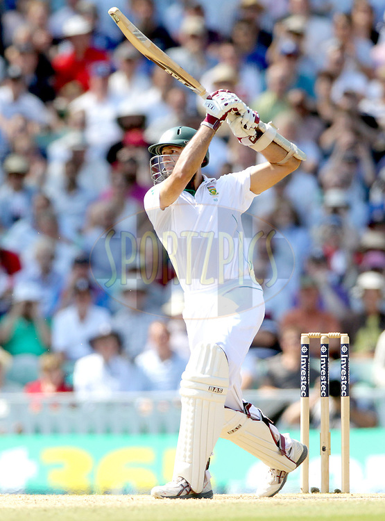 © Andrew Fosker / Seconds Left Images 2012 -South Africa's Hashim Amla hits the runs to reach  his triple century, 3 three hundred, 100, 300  England v South Africa - 1st Investec Test Match -  Day  4 - The Oval  - London - 22/07/2012
