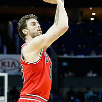 03 November 2015: Chicago Bulls forward Pau Gasol (16) takes a jump shot during the Charlotte Hornets  130-105 victory over the Chicago Bulls, at the Time Warner Cable Arena, in Charlotte, North Carolina, USA.