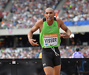 Zarck Visser during the Sainsbury's Anniversary Games at the Queen Elizabeth II Olympic Park, London, United Kingdom on 25 July 2015. Photo by Mark Davies.