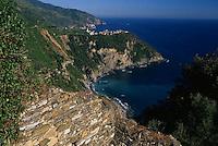 2000, Corniglia, Italy --- Small Village on the Riviera --- Image by © Owen Franken/CORBIS