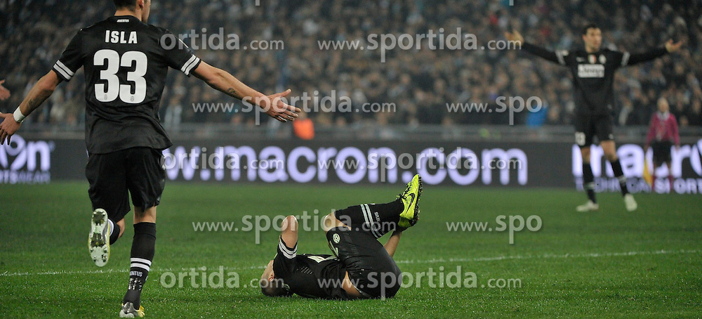 29.01.2013, Olympiastadion, Rom, ITA, TIM Cup, Lazio Rom vs Juventus Turin, Halbfinale, im Bild Sebastian Giovinco delusione Juventus // during the Italian TIM Cup semifinal match between SS Lazio and Juventus FC at the Olympic Stadium, Rome, Italy on 2013/01/29. EXPA Pictures © 2013, PhotoCredit: EXPA/ Insidefoto/ Federico Tardito..***** ATTENTION - for AUT, SLO, CRO, SRB, BIH and SWE only *****