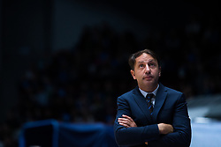 November 8, 2017 - Saint Petersburg, Russia - Head coach Orhun Ene of Tofas Bursa looks on during the EuroCup Round 5 regular season basketball match between Zenit St. Petersburg and Tofas Bursa at the Yubileyny Sports Palace in St. Petersburg, Russia, November 08, 2017. (Credit Image: © Igor Russak/NurPhoto via ZUMA Press)