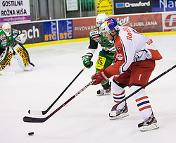 02.11.2012, Hala Tivoli, Ljubljana, SLO, EBEL, HDD Telemach Olimpija Ljubljana vs EC Red Bull Salzburg, 18. Runde, in picture Justin Di Benedetto (EC Red Bull Salzburg, #9) during the Erste Bank Icehockey League 18th Round match between HDD Telemach Olimpija Ljubljana and EC Red Bull Salzburg at the Hala Tivoli, Ljubljana, Slovenia on 2012/11/02. (Photo By Matic Klansek Velej / Sportida)