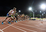 May 2, 2019; Stanford, CA, USA; General overall view of the start of the 10,000m during the 24th Payton Jordan Invitational at Cobb Track & Angell Field.