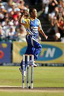CAPE TOWN, SOUTH AFRICA - 20 April 2008, JP Duminy celebrates the wicket of Albie Morkel during the Standard Bank Pro 20 Semi Final match between The Nashua Cape Cobras and Nashus Titans held at Sahara Park Newlands in Cape Town, South Africa...Photo by www.sportzpics.net