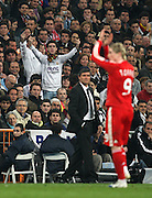 Fernando Torres of Liverpool receives abuse from Real Madrid fans as he is taken off during the second half
