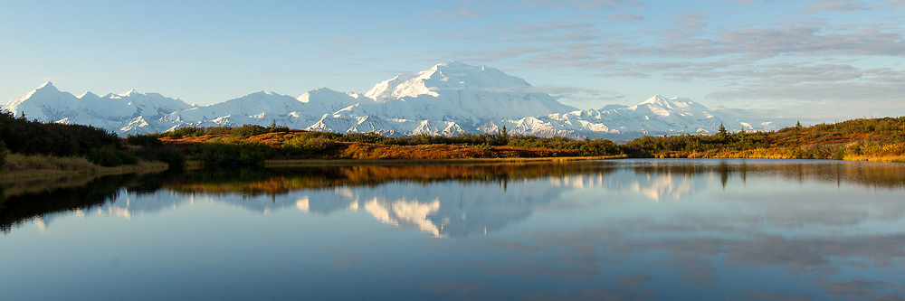 After rain and clouds hid the mountain, the skies cleared and revealed the Denali Range the last day of my stay. © John McBrayer 2015