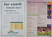 All Ireland Senior Hurling Championship Final,.09.09.2001, 9th September 2001,.Minor Cork 2-10, Galway 1-8,.Senior Tipperary 2-18, Galway 2-15,  .09092001AISHCF,.Bus Eireann,
