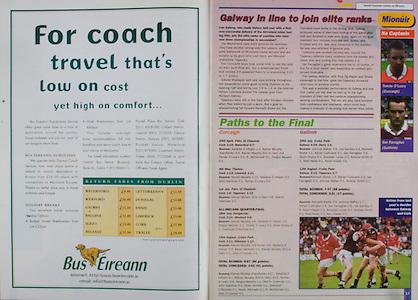 All Ireland Senior Hurling Championship Final,.09.09.2001, 9th September 2001,.Minor Cork 2-10, Galway 1-8,.Senior Tipperary 2-18, Galway 2-15,  .09092001AISHCF,.Bus Eireann,