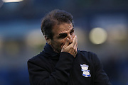 Birmingham City manager Gianfranco Zola looking dejected during the EFL Sky Bet Championship match between Brighton and Hove Albion and Birmingham City at the American Express Community Stadium, Brighton and Hove, England on 4 April 2017.