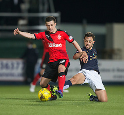 Rangers Jason Holt and Falkirk's Tom Taiwo. <br /> Falkirk 3 v 2 Rangers, Scottish Championship game player at The Falkirk Stadium, 18/3/2016.