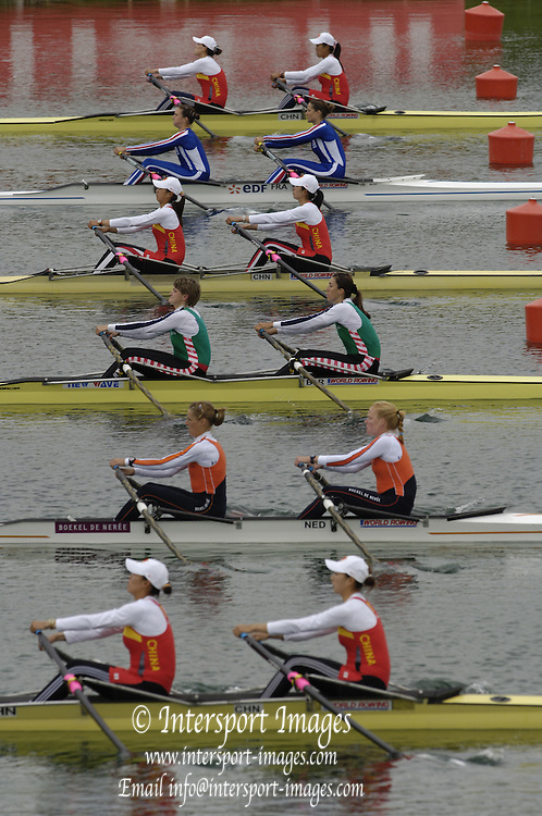 Munich, GERMANY, 2006, W2X Start,  FISA, Rowing, World Cup,  on the Olympic Regatta Course, Munich, Fri. 26.05.2006. © Peter Spurrier/Intersport-images.com,  / Mobile +44 [0] 7973 819 551 / email images@intersport-images.com.[Mandatory Credit, Peter Spurier/ Intersport Images] Rowing Course, Olympic Regatta Rowing Course, Munich, GERMANY