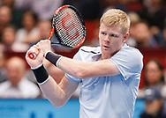KYLE EDMUND (GBR) Rueckhand,action, Aktion, Einzelbild, Halbkoerper,<br /> <br /> Tennis - ERSTE BANK OPEN 2017 - ATP 500 -  Stadthalle - Wien -  - Oesterreich  - 28 October 2017. <br /> © Juergen Hasenkopf