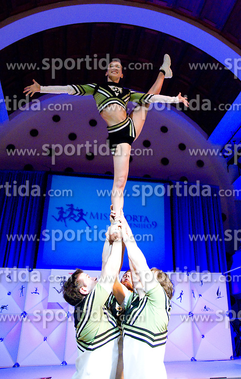 Acrobatic group Beli zmaji at event Miss Sports of Slovenia, on April 18, 2009, in Festivalna dvorana, Ljubljana, Slovenia. (Photo by Ales Oblak / Sportida)