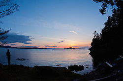 Sunset, Jones Island State Park, San Juan Islands, Washington, US