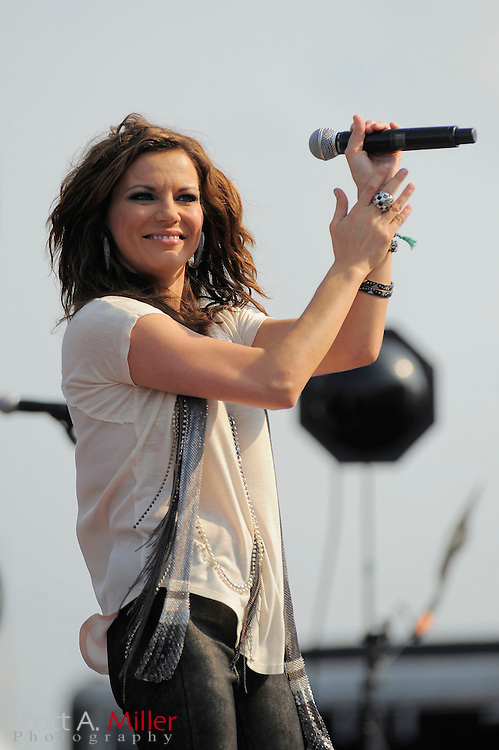 Country music performer Martina McBride in concert prior to the Coke Zero 400 at Daytona International Speedway on July 2, 2011 in Daytona Beach, Fla. ..©2011 Scott A. Miller
