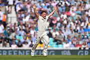 Sam Curran of England unsuccessfully appeals for an lbw against Steve Smith of Australia during the 5th International Test Match 2019 match between England and Australia at the Oval, London, United Kingdom on 13 September 2019.
