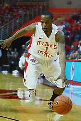 07 January 2012:  Tyler Brown during an NCAA Missouri Valley Conference mens basketball game Where the Purple Aces of Evansville lost to the Illinois State Redbirds 75-73 in Redbird Arena, Normal IL