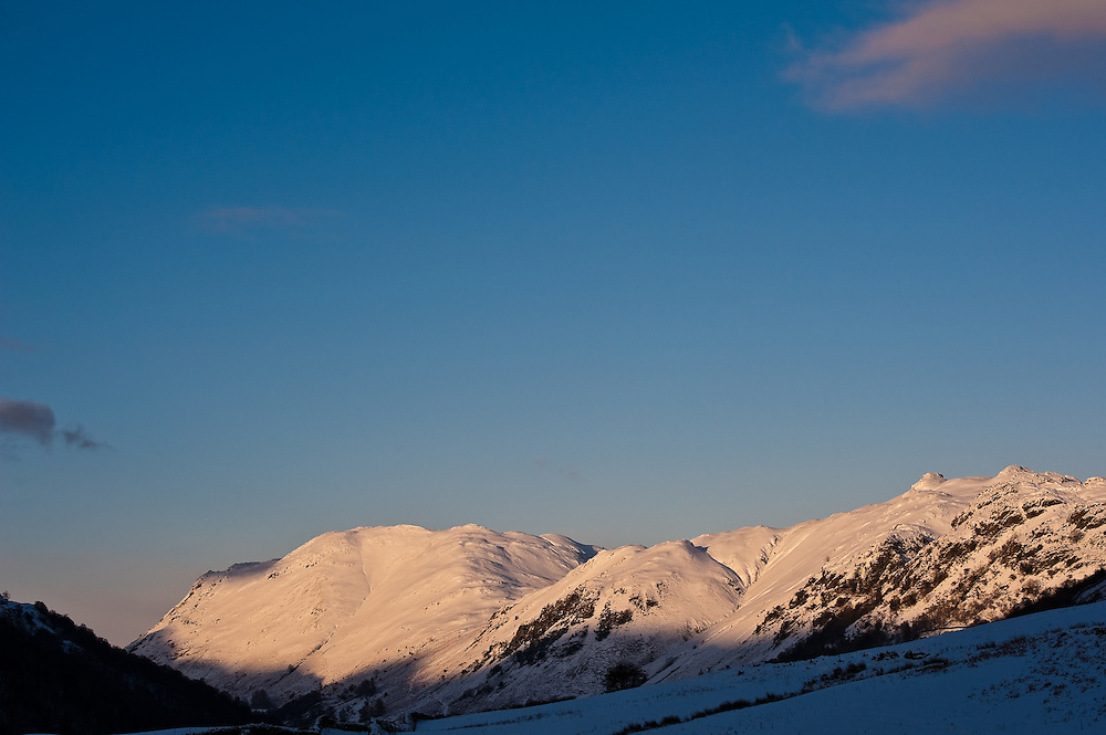 Patterdale in the snow, Ullswater,Cumbria,