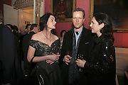MANDANNA RUANE, TEDDY ST. AUBYN AND CHARLOTTE SKENE-CATLING , Literary Review's Bad Sex In Fiction Prize.  In & Out Club (The Naval & Military Club), 4 St James's Square, London, SW1, 29 November 2006. <br />