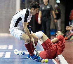 BERLIN - Indoor Hockey World Cup<br /> Quarterfinal 2: Austria - Poland<br /> foto: Patrick Schmidt and Tomasz G&oacute;rny <br /> WORLDSPORTPICS COPYRIGHT FRANK UIJLENBROEK