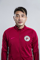 Portrait of Chinese soccer player Wang Liang of Liaoning Whowin F.C. for the 2017 Chinese Football Association Super League, in Foshan city, south China's Guangdong province, 24 January 2017.