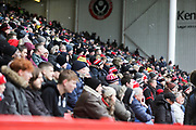 A packed Sheffield United home stand during the EFL Sky Bet Championship match between Sheffield United and Nottingham Forest at Bramall Lane, Sheffield, England on 17 March 2018. Picture by Mick Haynes.