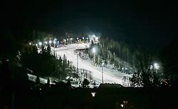 15.10.2011, Planai, Schladming, AUT, FIS Skiweltcup Alpin, Schladming, die Rennstrecke, im Bild die Piste im Flutlicht // the slope before the men's slalom of Schladming FIS Ski Alpine World Cup at the Planai Course in Schladming, Austria on 2011/10/15, EXPA Pictures © 2015, PhotoCredit: EXPA/ Erwin Scheriau