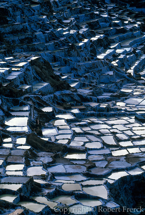 PERU, HIGHLANDS, INCA Salinas; ponds for collecting salt