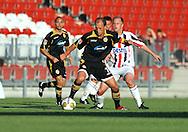 05-08-2008 Voetbal:FC ENERGIE COTTBUS:WILEM II:COTTBUS<br /> Danny Mathijssen verdedigt Timo Rost<br /> <br /> Foto: Geert van Erven