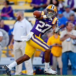 October 16, 2010; Baton Rouge, LA, USA; LSU Tigers wide receiver Jarred Joseph (27) during warm ups prior to kickoff against the McNeese State Cowboys at Tiger Stadium. LSU defeated McNeese State 32-10. Mandatory Credit: Derick E. Hingle