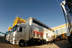 Motorsports / Formula 1: World Championship 2011, Test Valencia, McLaren Mercedes LKW, truck, trucks