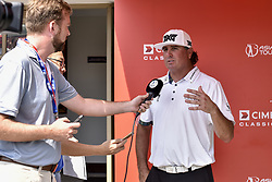 October 14, 2017 - Kuala Lumpur, MALAYSIA - Pat Perez of USA has an interview with press during the CIMB Classic 2017 day 3 on October 14, 2017 at TPC Kuala Lumpur, Malaysia. (Credit Image: © Chris Jung via ZUMA Wire)