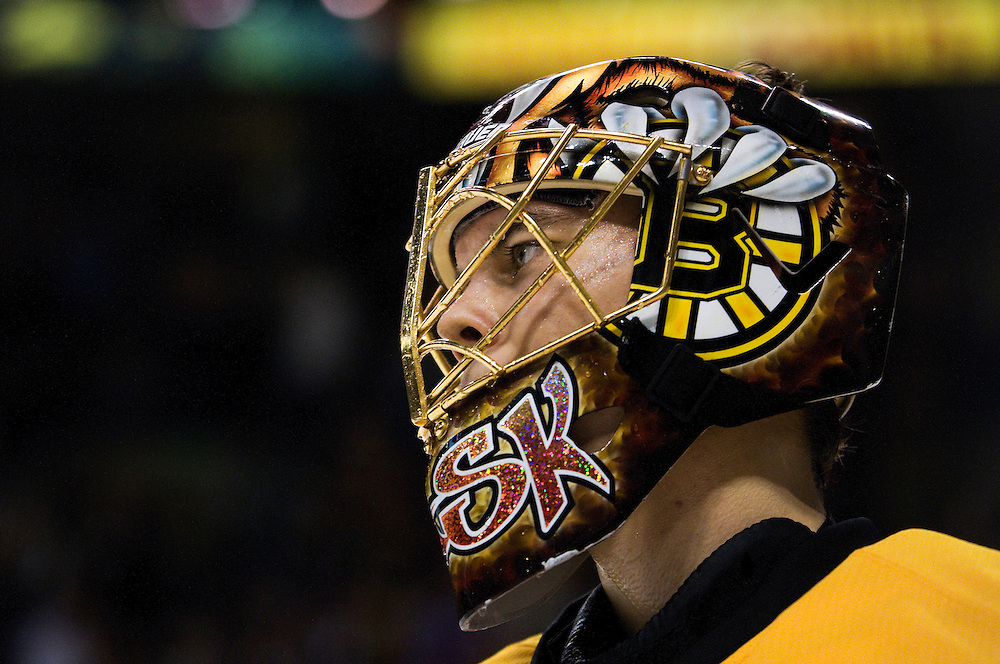 31 January 2009: Bruins goalie Tuukka Rask #40 in action during the Boston Bruins 1-0 win over the New York Rangers at the TD Banknorth Garden in Boston, MA.*****Editorial Usage Only*****