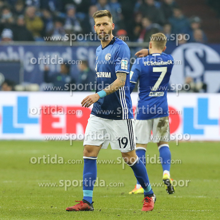 21.01.2017, Veltins Arena, Gelsenkirchen, GER, 1. FBL, Schalke 04 vs FC Ingolstadt 04, 17. Runde, im Bild Guido Burgstaller (#19, FC Schalke 04) // during the German Bundesliga 17th round match between Schalke 04 and FC Ingolstadt 04 at the Veltins Arena in Gelsenkirchen, Germany on 2017/01/21. EXPA Pictures &copy; 2017, PhotoCredit: EXPA/ Eibner-Pressefoto/ Deutzmann<br /> <br /> *****ATTENTION - OUT of GER*****