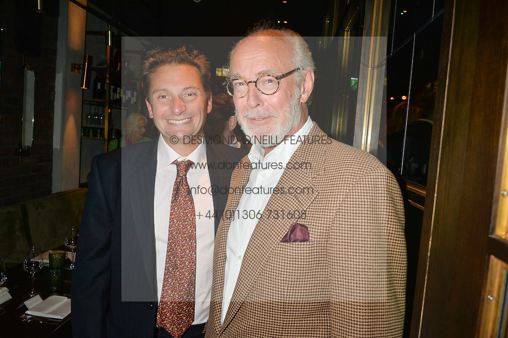 Left to right, JONATHAN FOREMAN and MICHAEL WILLIAMS-JONES at a dinner hosted by Lucy Yeomans and Amanada Foreman to celebrate the launch of the film Georgiana, Duchess of Devonshire held at sackville's, Sackville Street, London on 7th September 2015.