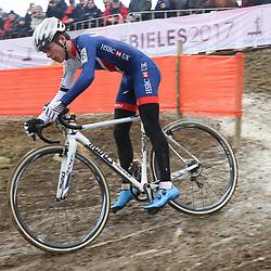 27-01-2017: Wielrennen: Wereldkampioenschap veldrijden: Luxemburg<br />BIELES (LUX) cyclocross  Thomas Piddock