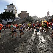 Roma 07/04/2018 <br /> Maratona di Roma 2018 <br /> 24ma edizione<br /> un passaggio davanti al Campidoglio