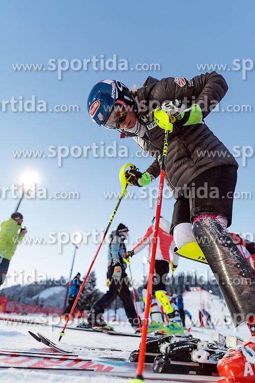 10.01.2017, Hermann Maier Weltcupstrecke, Flachau, AUT, FIS Weltcup Ski Alpin, Flachau, Slalom, Damen, Streckenbesichtigung, im Bild Mikaela Shiffrin (USA) // Mikaela Shiffrin of the USA during course inspection for the ladie's Slalom of FIS ski alpine world cup at the Hermann Maier Weltcupstrecke in Flachau, Austria on 2017/01/10. EXPA Pictures © 2017, PhotoCredit: EXPA/ Johann Groder