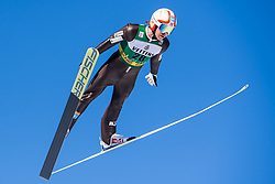 March 2, 2018 - Lahti, FINLAND - 180302 Miko Kokslien of Norway during a Ski jumping training session ahead of the FIS Nordic Combined World Cup on March 02, 2018 in Lahti. .Photo: Fredrik Varfjell / BILDBYRN / kod FV / 150068 (Credit Image: © Fredrik Varfjell/Bildbyran via ZUMA Press)