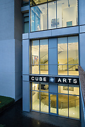 Cube Art Gallery at  The Gate Village district in the DIFC Dubai International Financial Centre in United Arab Emirates