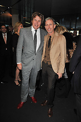 Left to right, THEO FENNELL and PATRICK COX at the launch of One Hyde Park, The Residences at Mandarin Oriental, Knightsbridge, London on 19th January 2011.