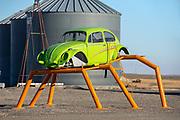 VW bug sculpture, Adams County, Washington.