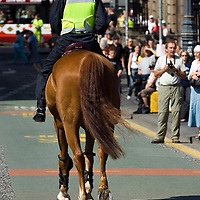 Anti war protest;  Edinburgh; Scotland; 12 July 2006<br />
