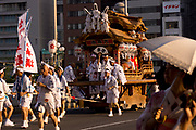 A portable shrine in the Tenjin Festival (Tenjin Matsuri) in Osaka.